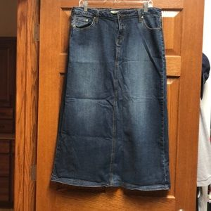 Stetson Long Denim Skirt